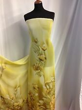 "NEW Designer Floral Chiffon Print Fabric 58"" 149cm High Society Dress MaterialUb"
