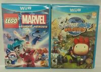 Scribblenauts Unlimited + Lego Marvel Super Heroes -  Nintendo Wii U 2 Game Lot