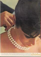1962 Richelieu PRINT AD Simulated Pearl Necklace Perle De Mer great vintage ad