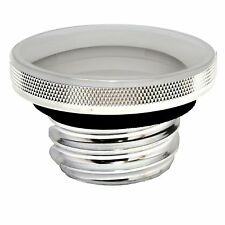 Domed Style Polished Aluminum Gas Tank Cap for Harley Davidson 1983-2017