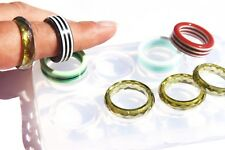 Clear silicone ring mold for personal jewelry making, resin supplies DIY 3-19