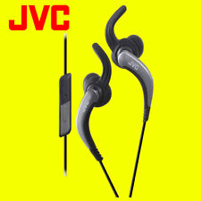 JVC HAETR40 BLACK Sports Earphones with Remote and Microphone Original Brand New