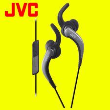 JVC haetr 40 Negro Deportes Auriculares Con Control Remoto Y Micrófono Original Totalmente Nuevo