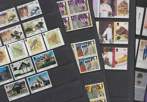 Isle of Man 2000-01 Mint MNH 7 Full Sets Insects Theatre Victoria Food Postmen