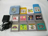 L471 Nintendo Gameboy Advance SP console Pearl Blue & 11 Game Adapter Japan GBA