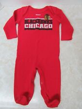 Reebok NHL Infant Chicago Blackhawks Hockey One Piece Outfit Romper 6 9 months