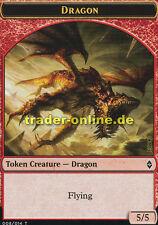 Token - Dragon (Spielstein - Drache) Battle for Zendikar Magic