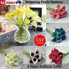 Artificial Bouquet Silk Flowers Blossom Rose Peony Home Wedding Party Decor