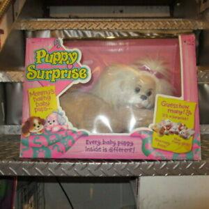 Vintage 1991s Puppy Surprise 3 Babies Hasbro Pet white Length 20 × 30cm Rare