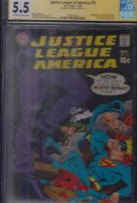 Justice League of America #75 (Nov 1969, DC) CGC Signature Series JOE GIELLA 5.5