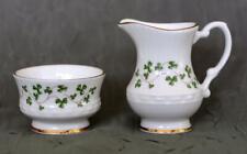 Royal Tara Miniatures - Sugar Bowl & Creamer Bone China With Shamrocks Ireland