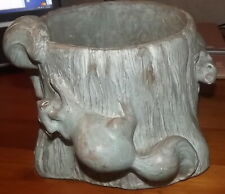 Isabel Bloom signed squirrel planter pot LARGE size