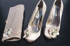 Ladies Dune Shoes With Matching Clutch Bag Size 4.5 UK Boxed