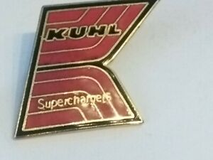 Vintage Original KAUL SUPERCHARGERS hot rod NHRA Drag Racing Hat Pin rare ENAMEL