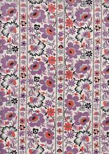 Eastham Thistle Floral Stripe Half Metre - 100% cotton - 50 x 110 cms