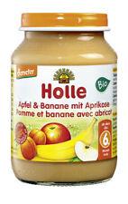 Glas - Demeter Apfel & Banane mit Aprikose 190g | HOLLE BABYFOOD