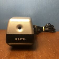 Vintage X Acto Electric Pencil Sharpener Model 19xx Cn Tested Works Silver