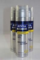 (3 PACK) Nivea for Men Q10 Double Action Revitalizing Shaving Gel 7oz.