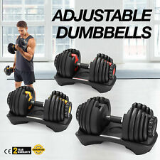 1/2 pcs Adjustable Dumbbell Weight Select 552 Fitness Workout Gym Dumbbells