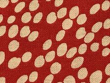 Fabric Dots White Scattered on Red Cotton 1 Yard S