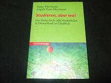 Dieter Herrmann Studieren aber wo - Der Städtecheck alle Hochschulen Deutschland