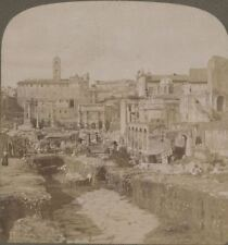 Italy. Forum & Capitol From Near Basilica Constantine - Underwood Stereoview