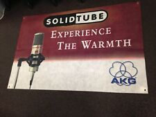 """Nos Akg Solidtube Experience The Warmth Banner 48""""X31.5"""" $29.88 Free Ship"""