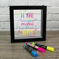 LIGHT UP Neon Effect ILLUMINATING MESSAGE Board FRAME with PENS