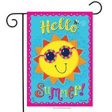 "Hello Summer Sun Garden Flag Sunshine Sunglasses 12.5"" x 18"" Briarwood Lane"