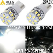 Alla Lighting 2x T10 White 18-LED Interior Map/License Plate Tag Light Bulbs W5W