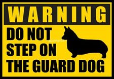 Corgi Warning Do Not Step Over Guard Dog Magnet 3 x 4 inches