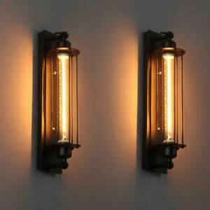 LED Außenlampe Antik Wandleuchte Vintage Industrie Käfig Wandlampe Zimmer E27