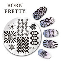 BORN PRETTY Nail Art Stamping Image Plate Stencil Geometry Figure DIY BP-94