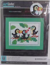 Artiste Punto de Cruz Bebé Tucanes Pájaro Tropical Zweigart Nevera Diseños