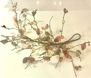 """AUTUMN FALL COLORS TRANSPARENT BERRY SPRAY PICK 21"""" LONG CRAFT PROJECT ADDITION"""