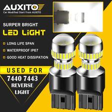 2X AUXITO 7443 7440 LED Back Up Reverse Light Bulbs 6000K Super White 54H EA