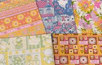 Vtg 1970s Colorful Gift Wrap Gift Sheets Flower Power  Lot Of 5