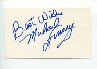 Michael Finney Famous Comedian Magician Signed Autograph
