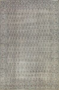 Antique Muted Paisley Kirman Hand-knotted Area Rug Wool Oriental Carpet 10'x13'