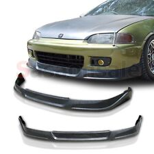Fit for 92-95 Honda Civic Coupe Hatchback JDM TCS Style Front Bumper Add on Lip