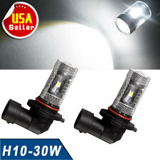 2x White 6000K H10 High Power 30W LED DRL Fog Driving Light Bulbs 9145 9140
