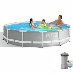 INTEX Prism Frame Pool Swimming Pool mit Filterpumpe 305x76cm Schwimmbecken