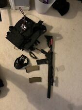 New listing polarstar jack airsoft gun w/ vest tank, mags, and face mask