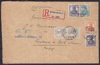 DR ZD W 9, S 8 MiF R- Brief, Mülhausen Elsaß - Neustadt 1918, Zusammendruck