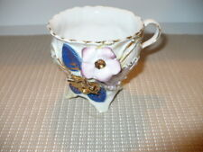 Lovely Antique Germany 603 Porcelain Multicolored Floral Teacup VGC Exception