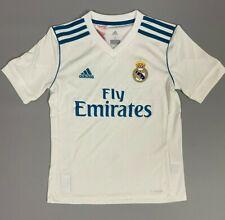 Real Madrid 2017/2018 Home Football Soccer Jersey Camiseta Shirt Boys Size S