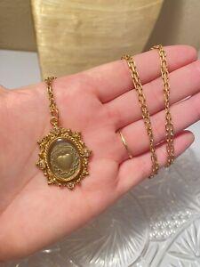 Virgins Saints & Angels Sacred Heart Magdalena Gold Necklace