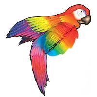 Papageiweste Papageikostüm Kinder Kostüm Weste Papagei Overall Vogel Ara Kleid