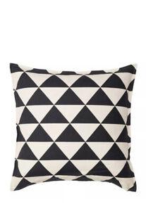 IKEA Johanne Cushion Cover Natural Off White Black 26x26 703.929.38 New