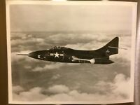 Original Navy Grumman Aircraft F9F-5 Panther 8x10 Photo Military Airplane WWII